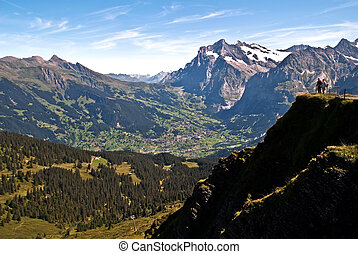 The Bernese Oberland V2 - Scenery with mountains in the...