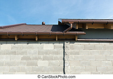 Rain gutter - Rain Gutter with downspout