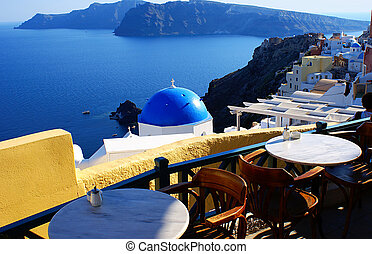 Traditional village at Santorini