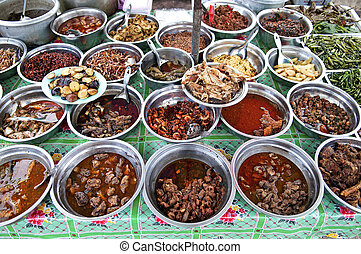 Myanmar Burma Yangon Asia cuisine curry food - burmese...