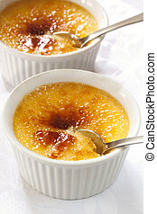 Creme Brulee - Creme brulee. Traditional French vanilla...
