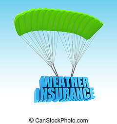 Weather Insurance 3d concept illustration