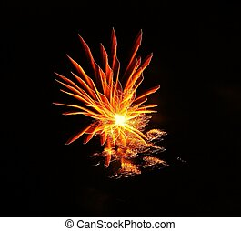 fire flower - , celebration, night, holiday, explosion,...