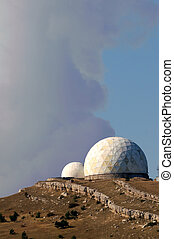 view of observatory located on Ay-Petry plateau, Crimea