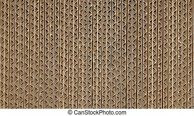 Corrugated cardboard - Brown corrugated cardboard useful as...