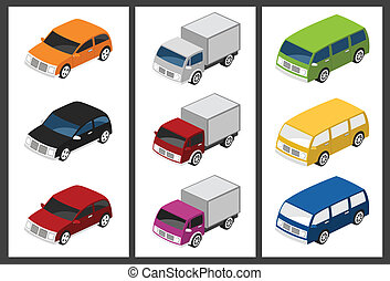 isometric car set