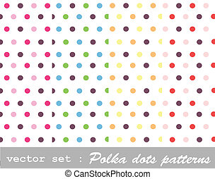polka dot set - seamless patterns, polka dot set