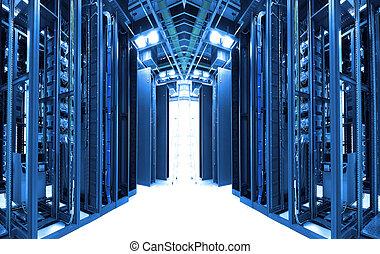 tiro, rede, tecnologia, cabos, Servidores, dados, centro
