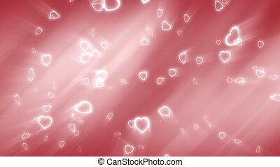 Falling Hearts Wedding Background - Looping Animated Love or...