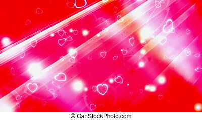 Love and Hearts Looping Backdrop