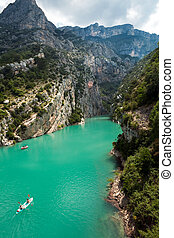 Gorge du verdon in Provence - View on the rocks of the Gorge...