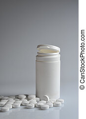white tablets - Open prescription bottles and white tablets...