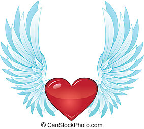 winged heart - heart with wings
