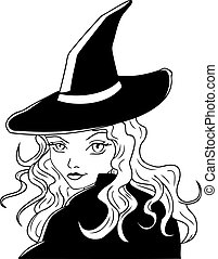 witch - illustration of a witch