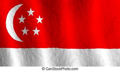 Singapore Looping Animated Flag Background