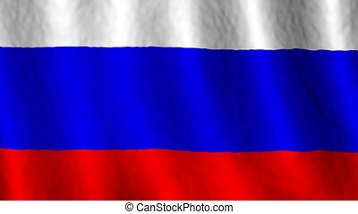 Russia Looping Flag