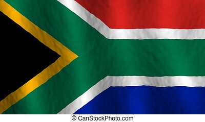 South Africa Looping Flag  - Looping South African Flag