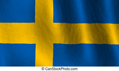 Sweden Flag Looping Background