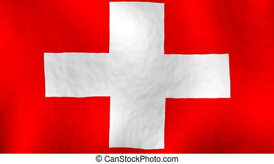Switzerland Flag Looping Background - Switzerland Flag...