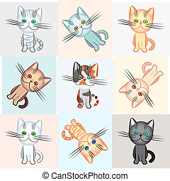 vector background on a cat theme