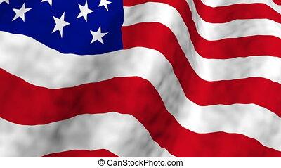 American Flag Three Loop - American Flag Looping Animated...