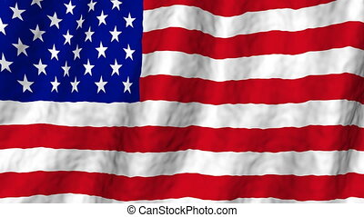 USA Flag Looping Background