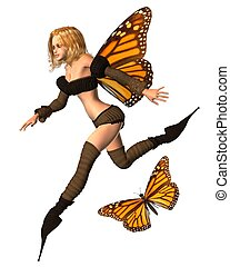 Monarch Butterfly Fairy - 3