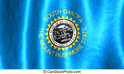 South Dakota Looping Flag Animated Background