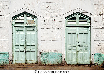 ottoman influence doors in massawa eritrea - traditional...