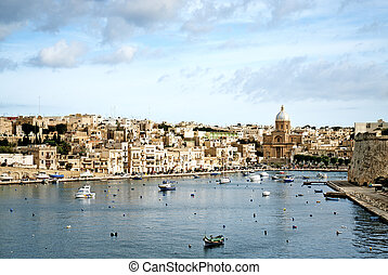 view valetta old town in malta - view valetta old town and...