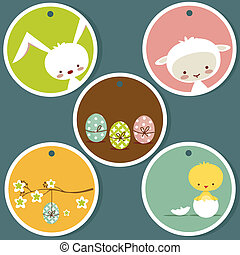 Cute easter tags