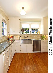 Luxury white large antuqie old kitchen - Amazing kitchen in...