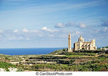 Gozo, wyspa, krajobraz, malta