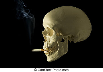 don't smoke - Cranial with a cigarette symbolizing the...