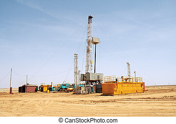 Drilling rig - View of the rig Overall plan Western...