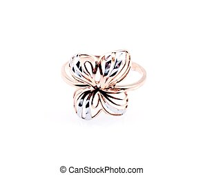 Gold ring - Golden Ring in the form of the butterfly...
