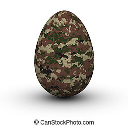Military Easter Eggs - Digital Camouflage Easter Eggs