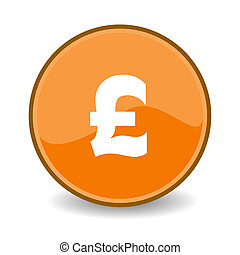 Pound Sterling button - Illustration of Pound Sterling sign...