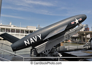 Cruise Missile - A cruise missile on display at the Intrepid...