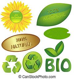 Set of eco and bio icons