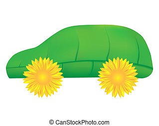 Green car, an eco icon