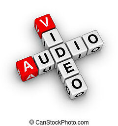 audio and video - 3d crossword audio and video store label