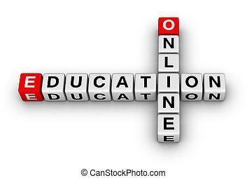 en línea, educación
