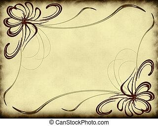 Antique texture with decorative elements