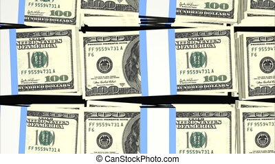 Stacks of Hundred Dollar Bills Loop - Stacks of Hundred...