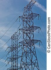 Electrical tower (1) - Electrical tower at power station (1)