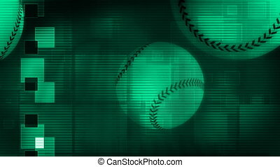 Baseball Looping Background in Green