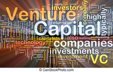 Venture capita background concept glowing - Background...