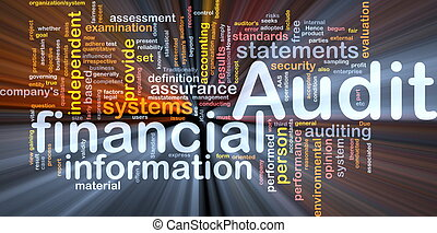Financial audit background concept glowing - Background...