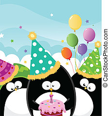 Happy Birthday - Penguins Birthday Party